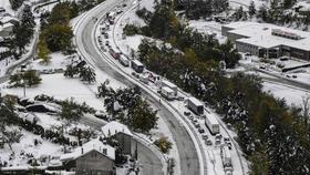 Neige en direct : la RN 118 de nouveau ouverte à la circulation