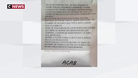 Des familles de policiers menacées par des lettres anonymes