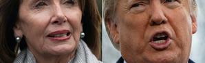Photomontage de la chef de la majorité démocrate à la Chambre des représentants Nancy Pelosi et du président américain Donald Trump [SAUL LOEB, Jim WATSON / AFP/Archives]
