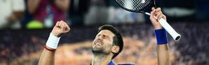 Novak Djokovic vainqueur du Russe Daniil Medvedev en 8e de finale à l'Open d'Australie, à Melbourne, le 21 janvier 2019 [Jewel SAMAD / AFP]