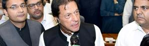 Imran Khan, après son élection à titre de Premier ministre du Pakistan, le 17 août 2018 à Islamabad. Photo fournie par l'Assemblée nationale pakistanaise [Handout / NA/AFP]