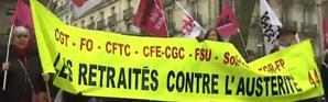 Des rassemblements ont eu lieu dans toute la France à l'appel de neuf organisations syndicales pour dénoncer la baisse du pouvoir d'achat des retraités.