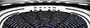 Le Parlement européen à Strasbourg, le 13 février 2019 [FREDERICK FLORIN / AFP/Archives]