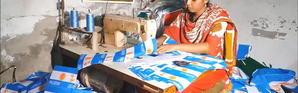 Mondial 2018: les drapeaux du Bangladesh