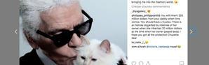 Karl Lagerfeld et sa «muse», Choupette.