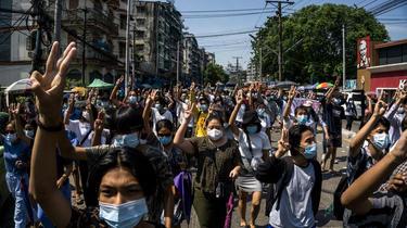 L'homme était très suivis par les manifestants pro-démocratie