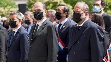 Eric Dupond-Moretti, Jean Castex et Gérald Darmanin (de droite à gauche), entre autres, seront plus silencieux qu'à l'accoutumée durant les quatre prochaines semaines.