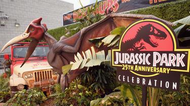 Jurassic Park, Steven Spielbergs Film wurde 1993 veröffentlicht.
