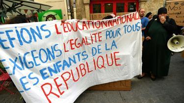 Manifestation de parents d'élèves le 18 avril 2019 à Montpellier [Pascal GUYOT / AFP/Archives]