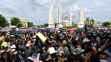 Des milliers de manifestants anti-gouvernementaux se sont rassemblés à Bangkok (Thaïlande) le 16 août 2020 [Mladen ANTONOV / AFP]