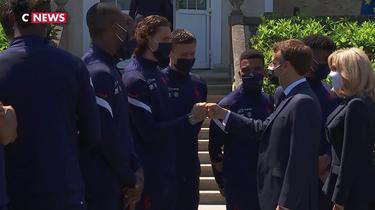 Euro 2021 : Emmanuel Macron en visite à Clairefontaine