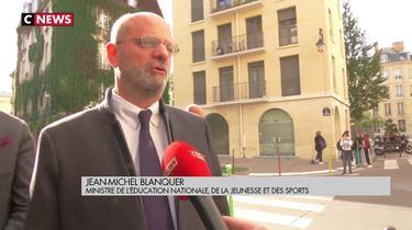Jean-Michel Blanquer condamne l'agression d'une professeure à Combs-la-Ville