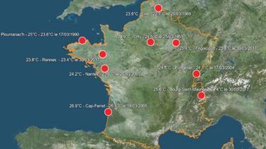 Des records de température pour un mois de mars ont été constatés par Météo France.