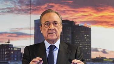 Florentino Perez foi reeleito presidente do Real Madrid em abril passado.