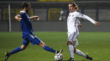 Antoine Griezmann a offert la victoire à l'équipe de France.