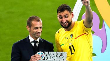 Le gardien italien Gianluigi Donnarumma a été élu meilleur joueur de la compétition.