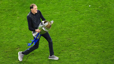 Thomas Tuchel portait lors de la finale de la Ligue des champions des chaussures offerts par Nasser Al-Khelaïfi.
