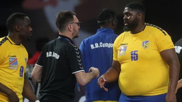 Gauthier Mvubi marcou quatro gols na primeira partida do Congo contra a Argentina.