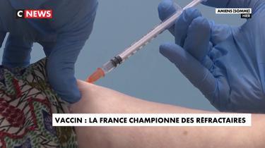 Vaccin: champion de France sur le podium des pays réfractaires
