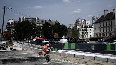 Photo award in 2019 during renovation work on Place de la Bastille.