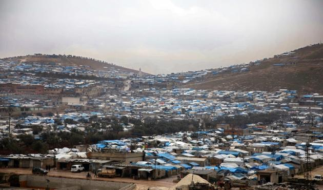 Le camp de Qah pour les déplacés syriens, dans la province d'Idleb, à la frontière avec la Turquie, le 31 janvier 2019 [Aaref WATAD / AFP/Archives]