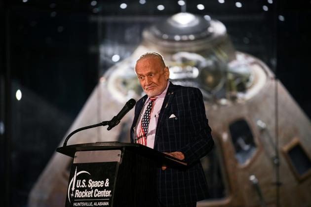 Buzz Aldrin le 17 juillet 2019 à Huntsville (Alabama) [Loren ELLIOTT / AFP]
