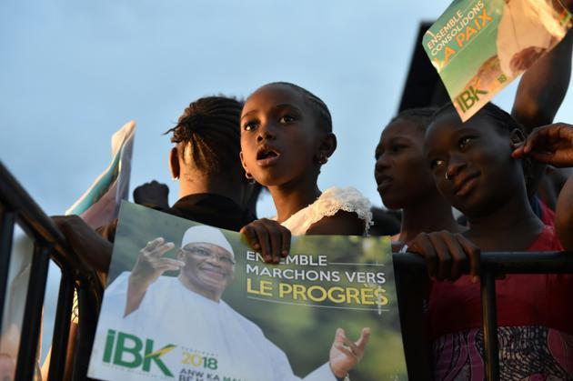 Avant la présidentielle au Mali dans Bamako, le 27 juillet 2018 [ISSOUF SANOGO / AFP]