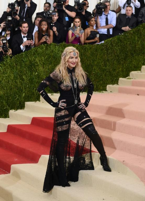 Madonna arrive au Costume Institute Benefit au Metropolitan Museum of Art, le 2 mai 2016 à New York [TIMOTHY A. CLARY / AFP/Archives]
