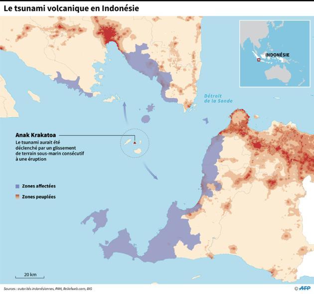 Le tsunami volcanique en Indonésie [ / AFP]