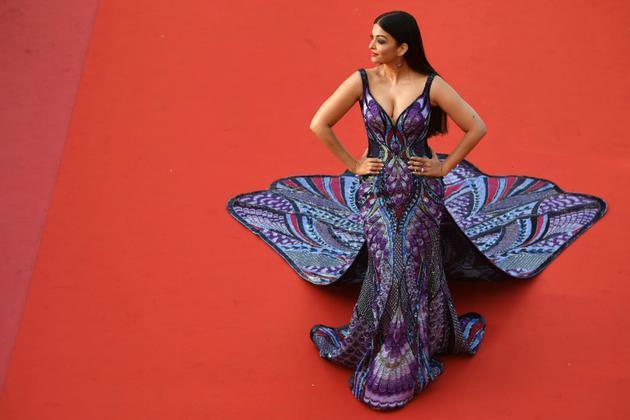 L'ancienne Miss Monde et actrice indienne Aishwarya Rai, à Cannes le 17 mai 2018   [Antonin THUILLIER / AFP/Archives]