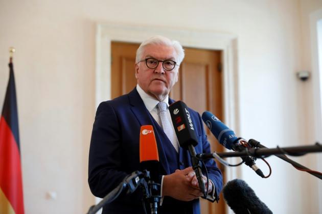 Le président allemand Frank-Walter Steinmeier le 16 avril 2019 à Berlin [MICHELE TANTUSSI / AFP/Archives]