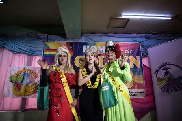 Les gagnants du concours de beauté organisé par les Golden Gays de Manille, le 16 juin 2018 [NOEL CELIS / AFP]