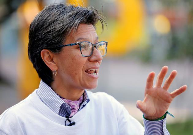 L'ex-sénatrice Claudia Lopez, initiatrice de la consultation, à Bogota, le 22 août 2018 [John VIZCAINO / AFP]