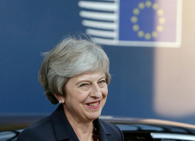 La Première ministre britannique Theresa May le 17 ocobre 2018 à Bruxelles [Aris Oikonomou / AFP]
