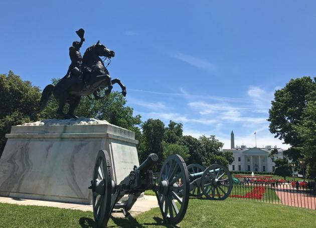 Le square Lafayette, en face de la Maison Blanche, le 14 juin 2018 à Washington [Daniel SLIM / AFP/Archives]