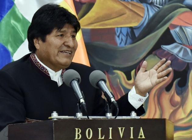 Le président bolivien Evo Morales, le 14 août 2019 à La Paz [AIZAR RALDES / AFP/Archives]