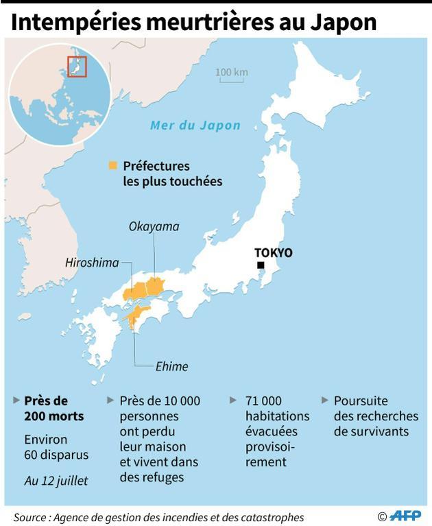 Intempéries meurtrières au Japon [Li Tongtong  / AFP]