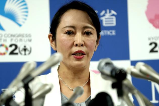 Masako Mori, la ministre de la Justice japonaise, lors d'une conférence de presse à Tokyo, le 6 janvier 2020 [Behrouz MEHRI / AFP]