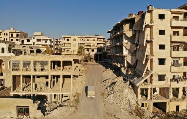 Le quartier Maaret al-Numan, au nord de la province d'Idleb en Syrie, le 27 septembre 2018 [OMAR HAJ KADOUR / AFP/Archives]