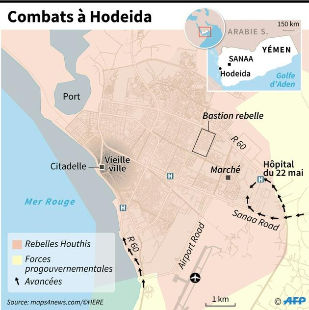 Combats à Hodeida [Laurence SAUBADU / AFP]