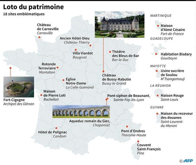 Loto du patrimoine [Sabrina BLANCHARD / AFP]