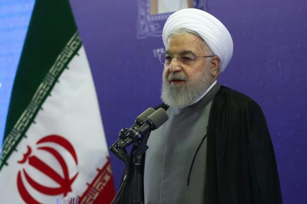 Photo diffusée par la présidence iranienne de Hassan Rohani, lors d'une cérémonie à Tabriz (nord-ouest), le 1er août 2019 [HO / Iranian Presidency/AFP]