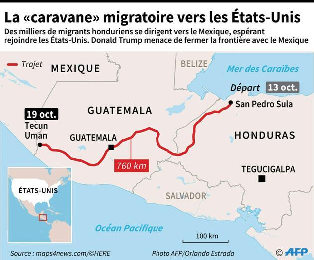 """La """"caravane"""" migratoire vers les Etats-Unis [ / AFP]"""