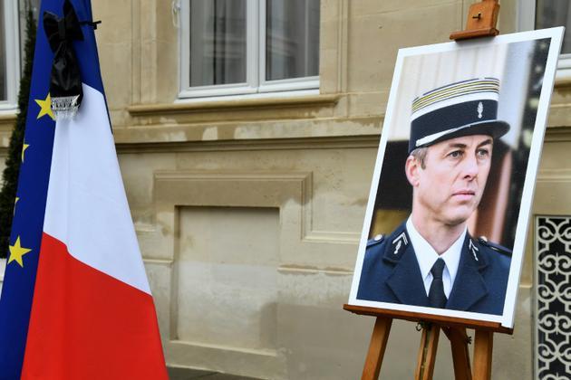 Hommage au colonel Arnaud Beltrame, mort en héros lors d'une attaque terroriste le 23 mars 2018 à Trèbles, à Paris le 28 mars 2018 [BERTRAND GUAY / AFP/Archives]