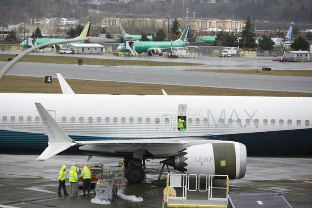 Un Boeing 737 MAX 9 sur le tarmac de la Boeing Renton Factory, à Renton dans l'Etat de Washington le 12 mars 2019 [Jason Redmond / AFP]
