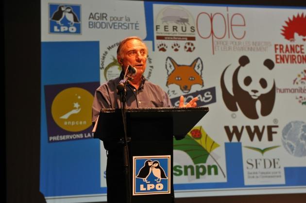 Allain Bougrain-Dubourg, président de la LPO (Ligue de protection des oiseaux), lors du 34e congrès de l'organisation, à Chatelaillon-plage le 1er juillet 2017 [XAVIER LEOTY / AFP/Archives]