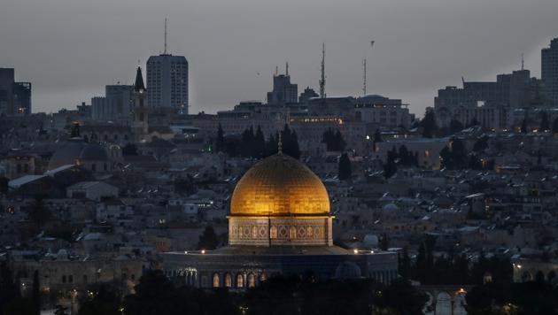 La vieille ville de Jérusalem vue depuis le Mont des Oliviers, le 24 avril 2019 [AHMAD GHARABLI / AFP/Archives]