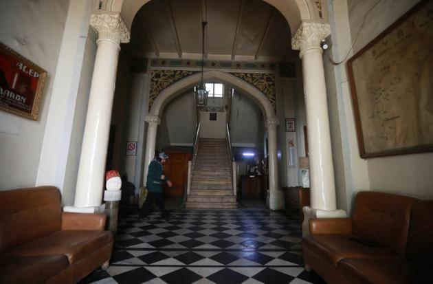 Le hall d'entrée de l'hôtel Baron [LOUAI BESHARA / AFP]