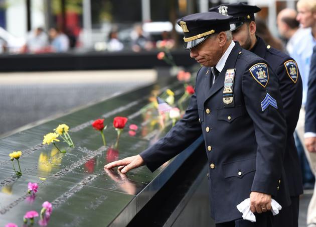 Hommage aux victimes du 11-Septembre à New York, le 11 septembre 2018, 17 ans après les attentats   [TIMOTHY A. CLARY / AFP]
