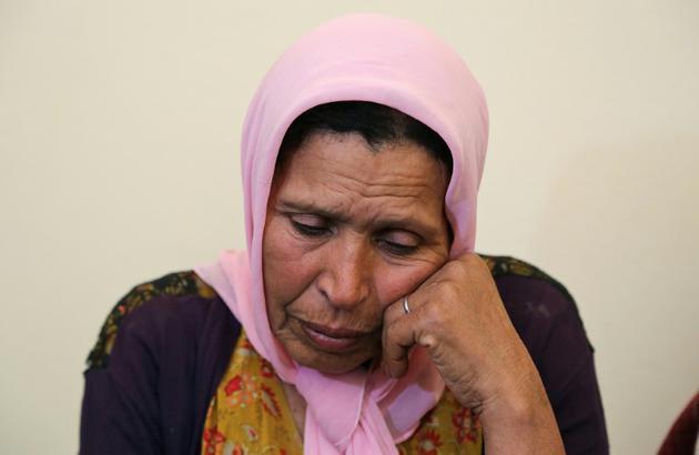 La mère de l'auteure de l'attentat kamikaze qui a fait 20 blessés à Tunis, durant un entretien avec l'AFP, dans la région de Mahdia (est), le 30 octobre 2018 [ / AFP]